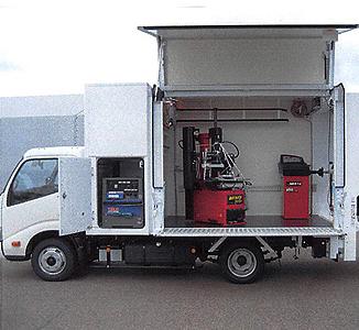 ベース車両入庫から納車まで最短1ヶ月 PCタイヤサービス MTS 3800 / MTS 4500